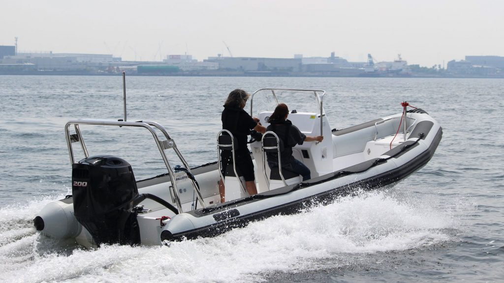 Ballistic RIBS race support boats for Tokyo Test Event for 2020 Games