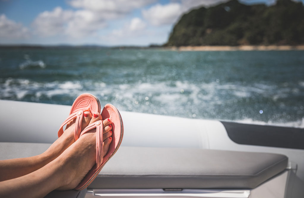 boating staycation with a RIB